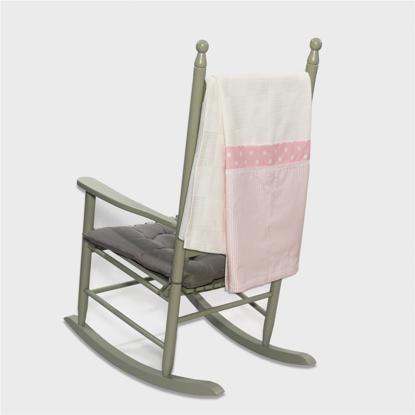 Εικόνα της Πικέ κουβέρτα 100*150 carousel ροζ