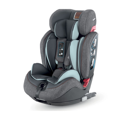 Εικόνα της Inglesina Gemino I-Fix 1 2 3 παιδικό κάθισμα αυτοκινήτου Grey