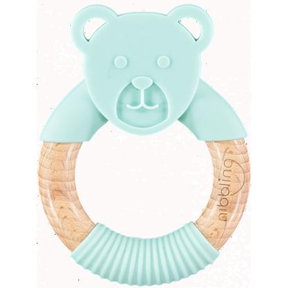 Εικόνα της Μασητικό-Κρίκος Οδοντοφυίας Nibbling Ted Bear Mint