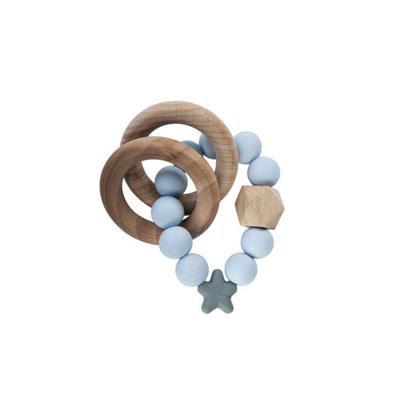 Εικόνα της Μασητικό-Κρίκος Οδοντοφυίας Nibbling Stellar Nat. Wood Soft Blue