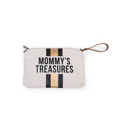 Εικόνα της Νεσεσέρ Childhome Mommy Treasures Clutch CanvasOf White Stripes Black/Gold