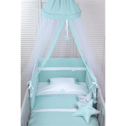 Εικόνα της Κουνουπιέρα οροφής Baby Oliver Muslin Mint