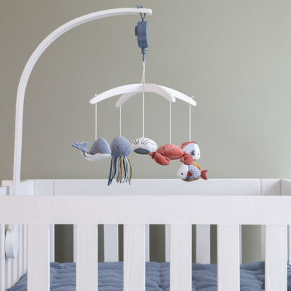 Εικόνα της LITTLE DUTCH. Μόμπιλε κρεβατιού Ocean Blue με λευκό βραχίονα